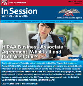 In Session with Allied World for APA