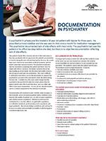Documentation in Psychiatry