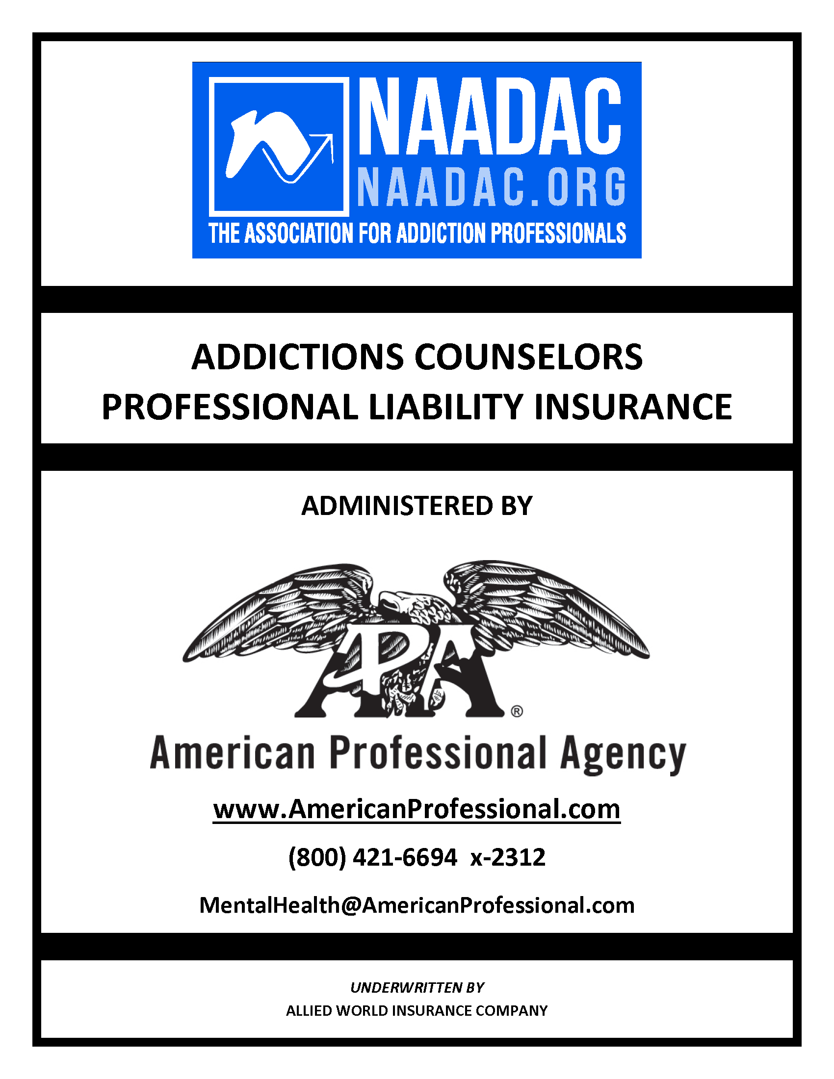 NAADAC Cover for brochure