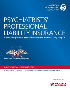 APA Psychiatry Brochure (Allied World)