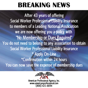 Social Worker No Membership or Dues Required